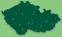 Mapa poboček studijního centra BASIC